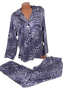 Victoria's Secret Victorias Secret The Afterhours Pj Set Satin Pajama Silver Cheetah