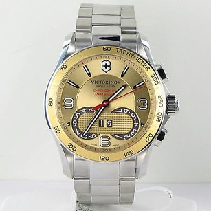 Victorinox Victorinox Swiss Army 241619 Champagne Dial Stainless Steel Mens Watch