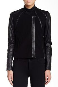 Vince Leather Point Black Jacket
