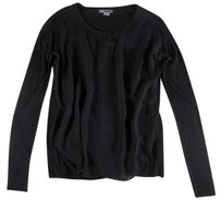 Vince Black Front High Knit Mp Top