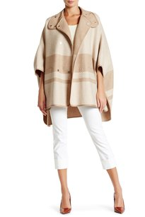 Vince Blanket Stripe Wool Cape