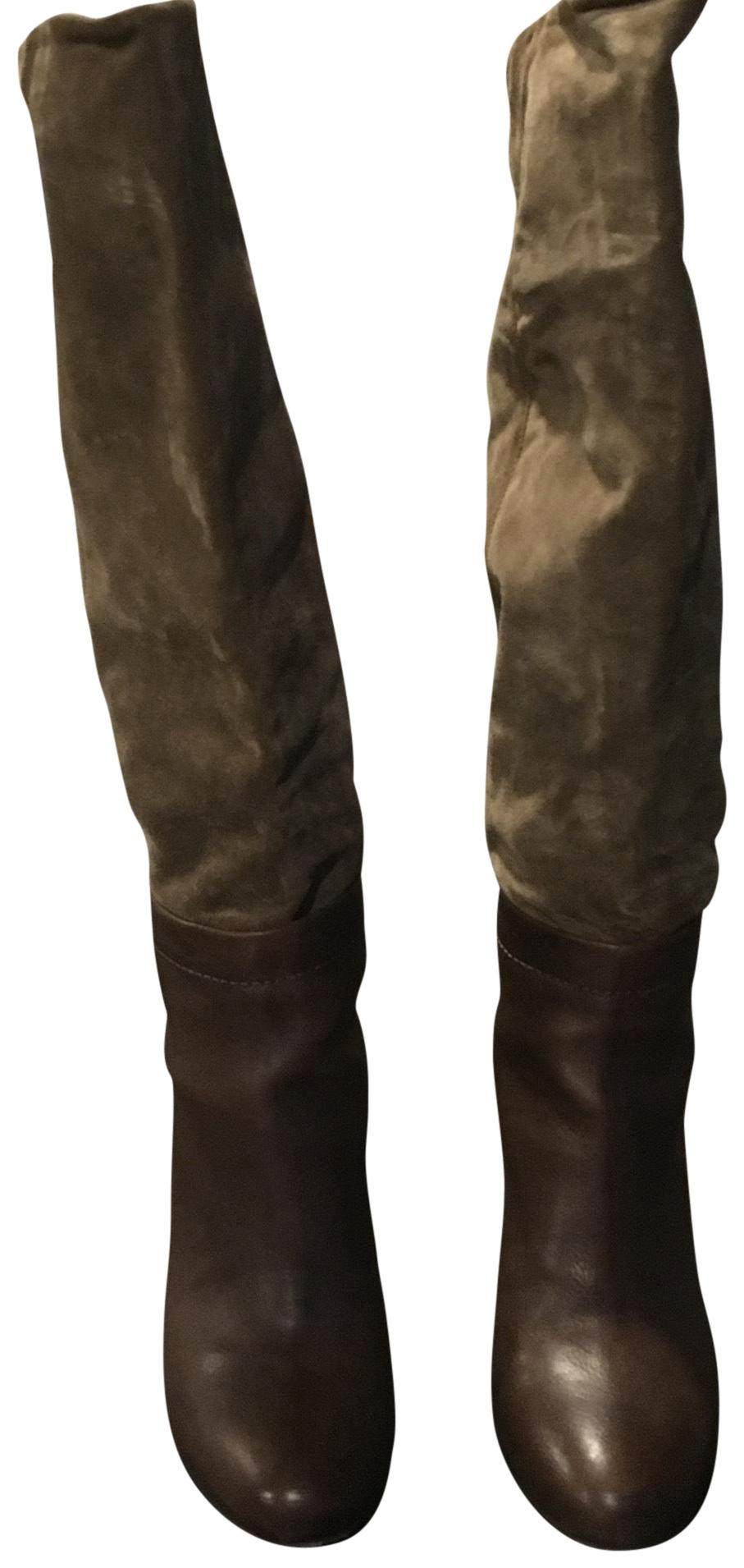Vince Brown and Olive Green Boots/Booties Size US 7.5 Regular (M, B)