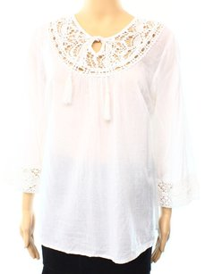 Vince Camuto 100% Cotton 3/4 Sleeve Top