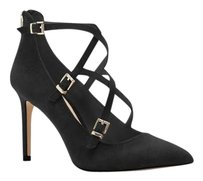 Vince Camuto Neddy Crosscross BLACK TRUE SUEDE Pumps