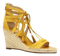 Vince Camuto Tannon Lace Up Espadrille yellow Wedges