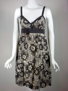 Vince short dress Ivory Gray Floral on Tradesy