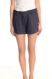 Vince Navy Coastal Cuffed Shorts Blue