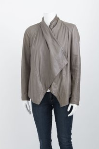 Vince Taupe Knit Drape Gray Jacket