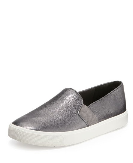 Vince Blair Slip-on Sneakers Slides Metallic Gunmetal Athletic ...