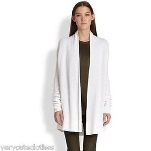 Vince Ribbed Draped Front Sweater