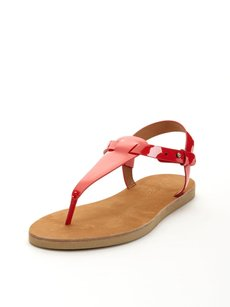 Vince Maia Bright Tomato Red Sandals