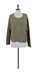 Vince Taupe Crochet Sweater