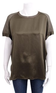 Vince Oversized Olive Top Green