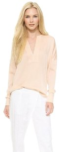 Vince Dust Silk Trapunto Top Pink