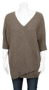 Vince Ribbed Cashmere Dolman Layered Tunic Asymmetric Sweater