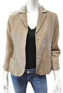 Vince Vince Taupe Leather Blazer Xs..new