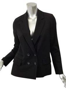 Vince Vince Womens Black Wool Blend Double Breasted Blazer Jacket Top