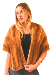 Pastel Brown Mink Stole Wedding Fur Coat