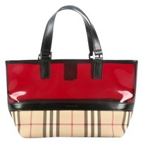 ON SALE!! Vintage BURBERRY Tote Bag Tote in Vintage Burberry Check w/Red Top