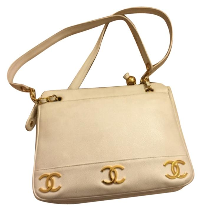 Vintage Chanel Bag (white gold hardware)