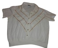 Vintage Clothing Shirt Top white and gold