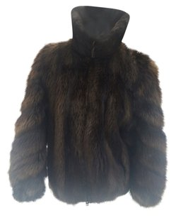 LONG HAIRED BEAVER FUR COAT Bomber Fur Coat