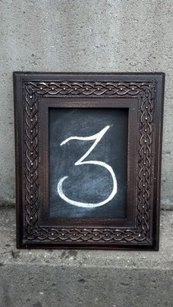 Vintage Style Brown Frames Table Number Picture Frame