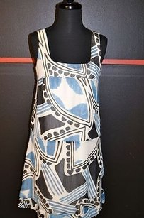 W118 by Walter Baker short dress Multi-Color Blue Gray White 100 on Tradesy