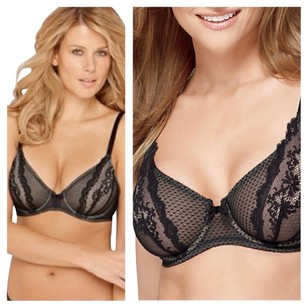 Wacoal BRA 32DD NWT Wacoal Absolutely Fabulous Underwire 851143 Black Elegant Sexy Lace