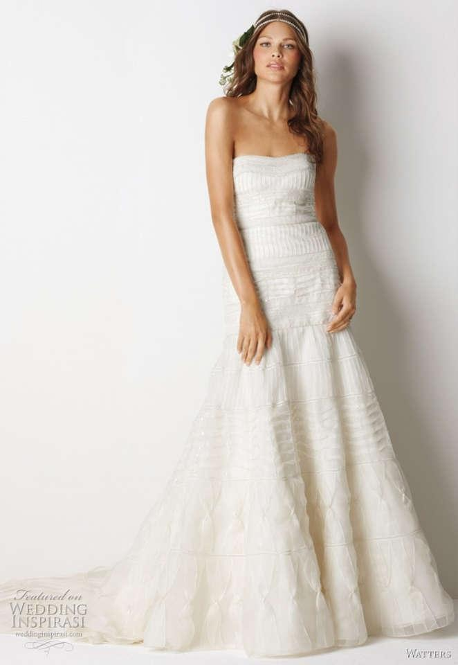 watters white organza silk mackay gown formal wedding