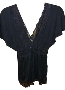 Wet Seal Lace Top Black