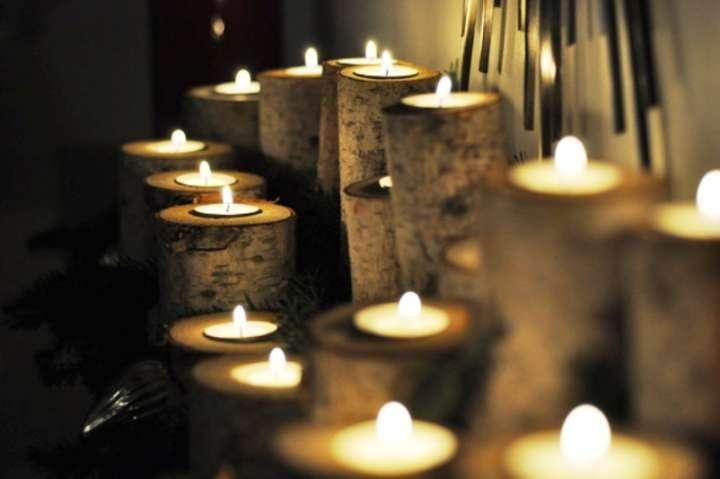 Image result for tea lights in a room