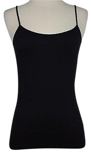 White House | Black Market Womens Solid Sleeveless Nylon Blend Top Black