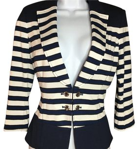 White House | Black Market Navy/white/black Blazer