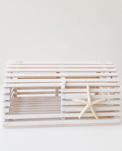 White Lobster Trap Card Box Card Holder Beach Wedding