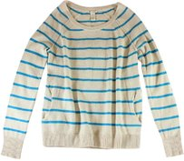 White + Warren Striped Paz Sweater