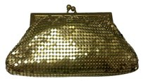 Whiting & Davis Mesh Chain Meil Gold Clutch