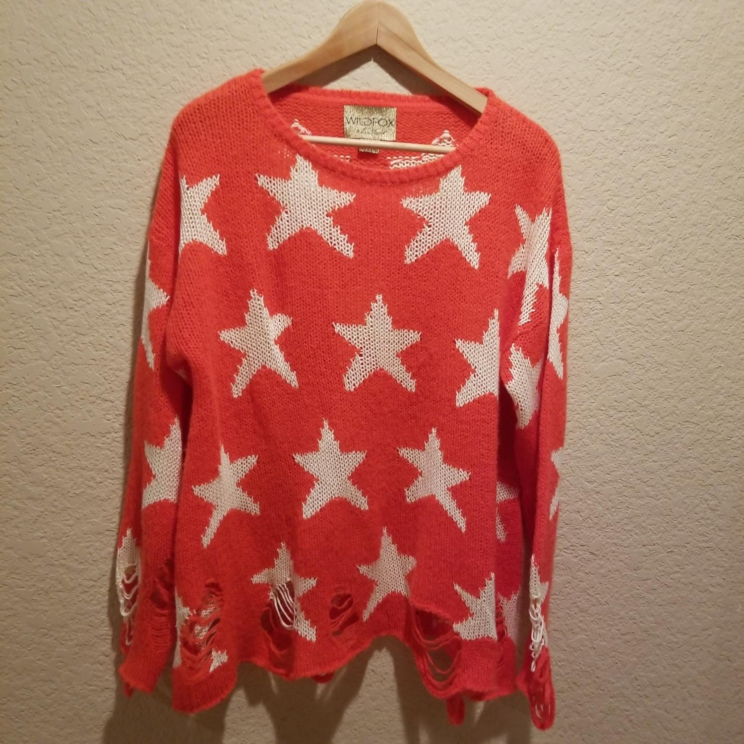 Wildfox Couture White Label Seeing Stars Lennon Sweater in Pink NWT