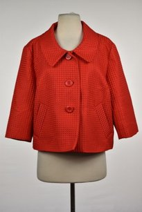 Willi Smith Womens Basic Red Jacket