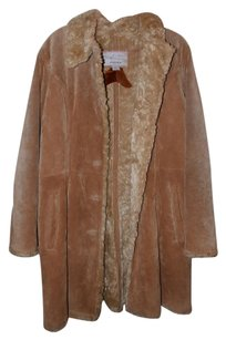 Wilsons Leather Faux Fur Lining Suede Leather Fur Coat