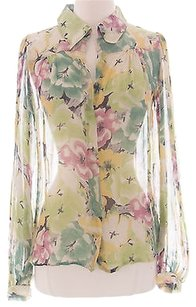 Winter Kate Floral Sheer Nrt146 Top Multi-Color