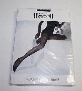 Wolford Wolford Black Moulin Rouge Tights Alternating Stripe Patterns Hsb1