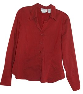 Worthington Button Down Shirt dark red