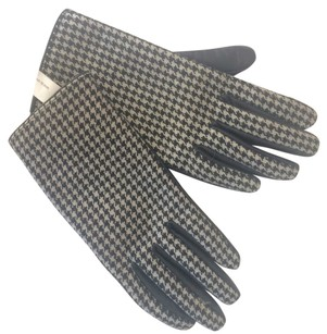 Worthington Leather Houndstooth Gloves Small