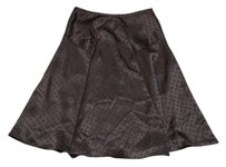Worthington Satin Polka Dot Polyester Skirt Black