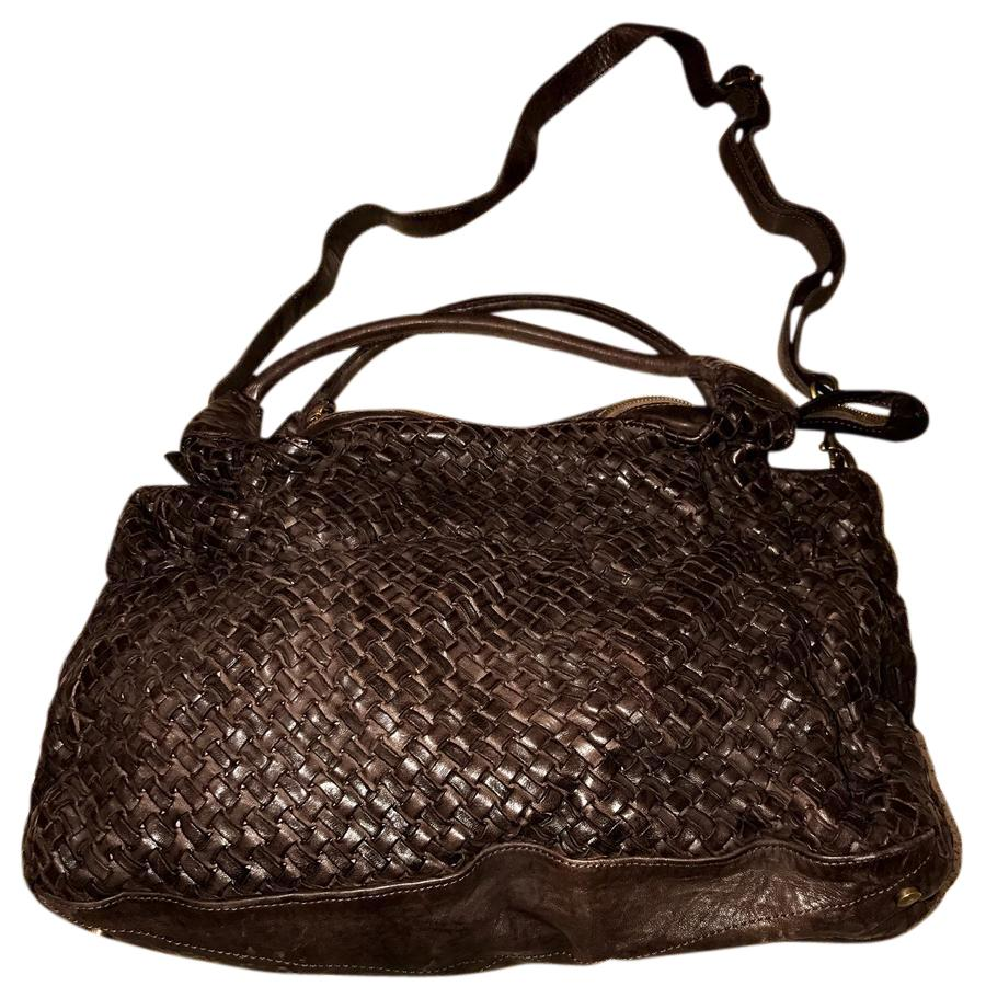 5f30bff9629 Woven distressed italian leather brown shoulder bag tradesy jpg 948x960 Italian  leather bags
