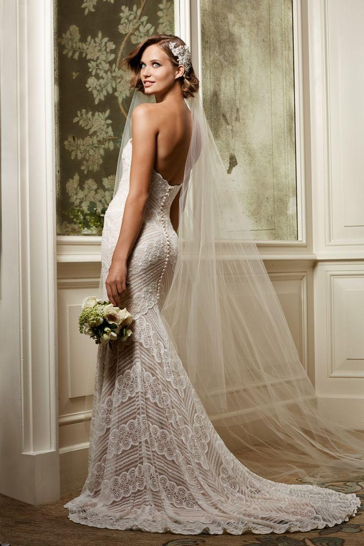 Wedding Gowns with Off White Roses
