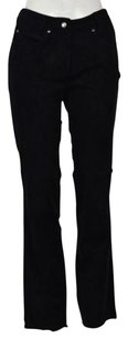 Yansi Fugel Womens Textured Casual Pig Suede Trousers Pants