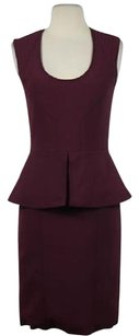 Yigal Azrouël Womens Below Knee Sleeveless Lined Sheath Dress