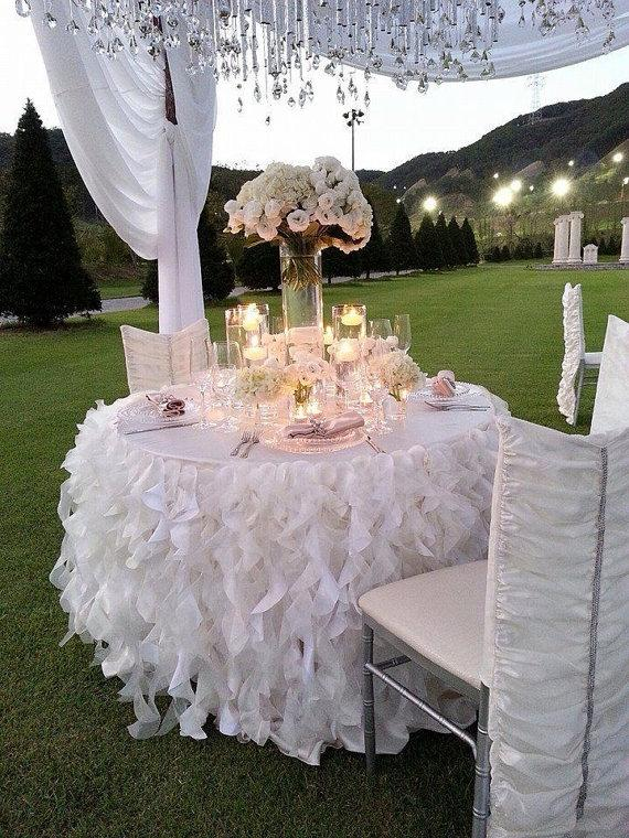 You Choose Table Skirt Event Party Bridal Shower Baby Tablecloth ...
